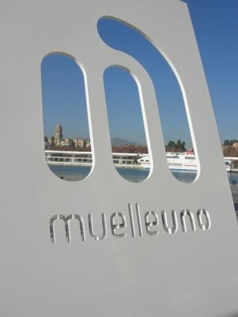 Muelle Uno centro comercial abierto del puerto de Malaga