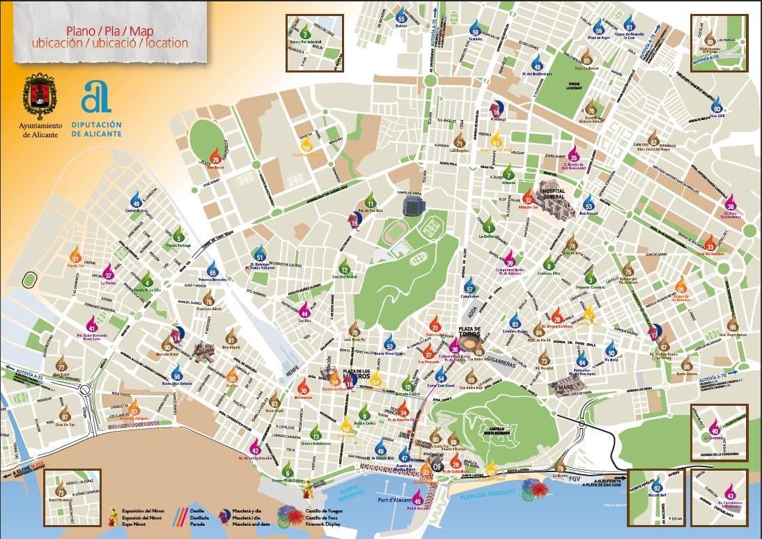 San Juan Alicante Mapa.Mapa De San Juan De Alicante