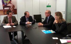 Reunión entre autoridades de Benidorm y representantes de Adif