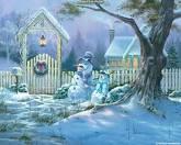 Muñeco de Nieve en el jardin