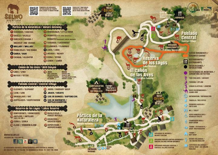 Selwo Aventura Mapa