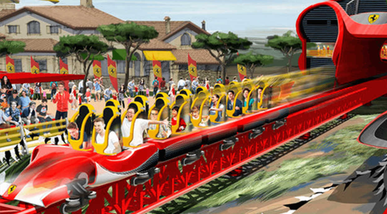 The new Ferrari Land theme park, about to open