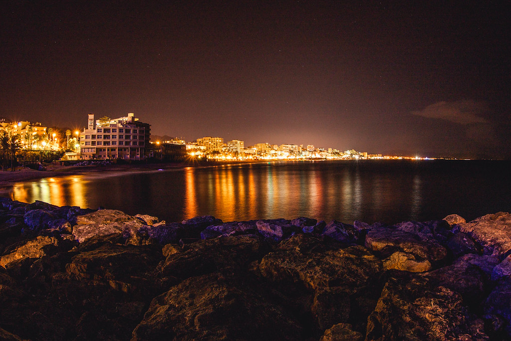 Benalmádena at night